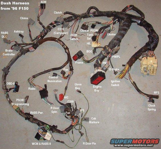 engine compartment wire harness 94 bronco   41 wiring