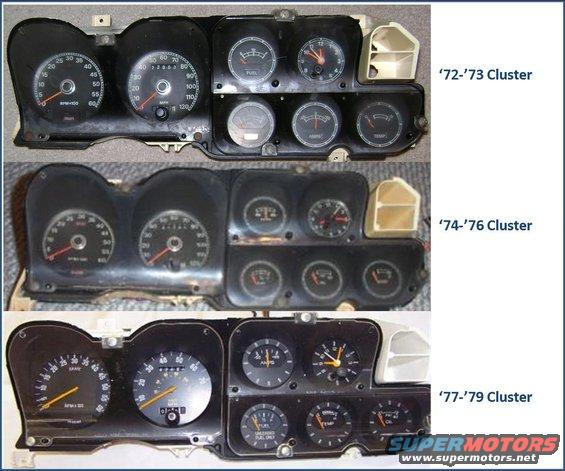 speedometer gauge wiring diagram digital volt gauge wiring diagram 72 79 gauge clusters and wiring ranchero us #11