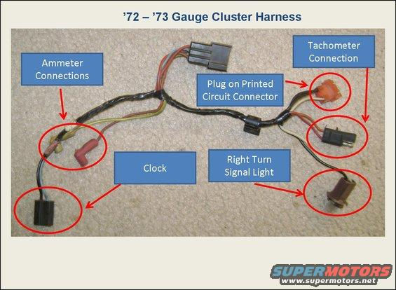 2 3 gauge cluster harness 1 72 79 gauge clusters and wiring ranchero us 1975 f250 wiring harness at gsmportal.co