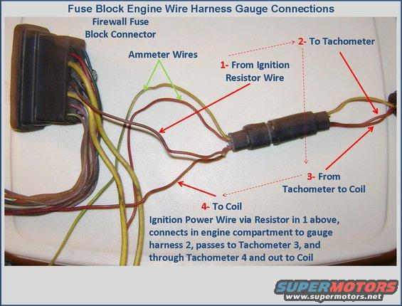 fuse block engine harness gauge connections car harness wire gauge diagram wiring diagrams for diy car repairs  at n-0.co