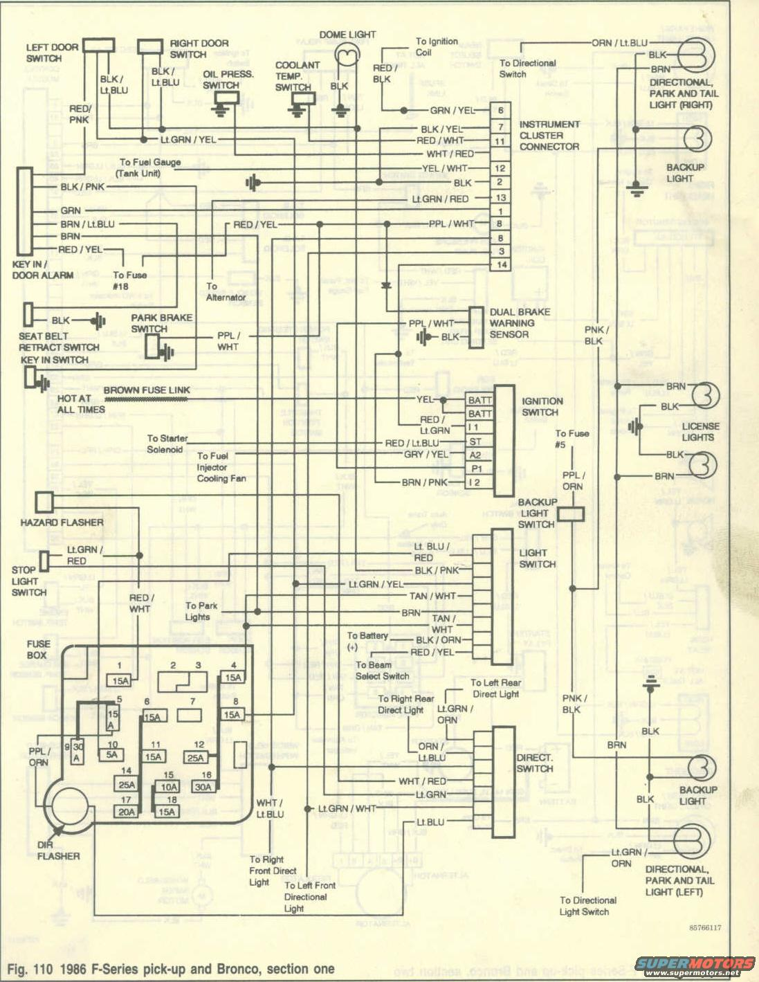 and section 1: Here is the link to my site: 1986 Ford Bronco Wiring Diagrams  ...
