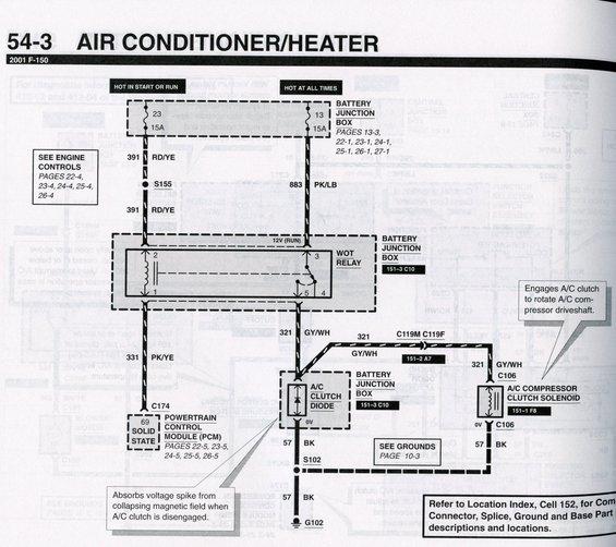 Freighliner A C Clutch Wire Diagram: F150online Forums