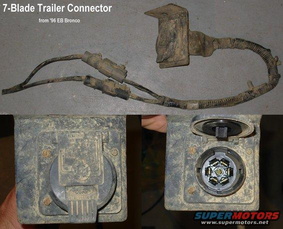 trailerconn96 adding a 7 blade trailer tow package to a 96 ford bronco forum ford 7 blade trailer wiring at gsmportal.co