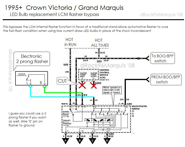 1996 Mercury Grand Marquis Panther LCM lighting circuits