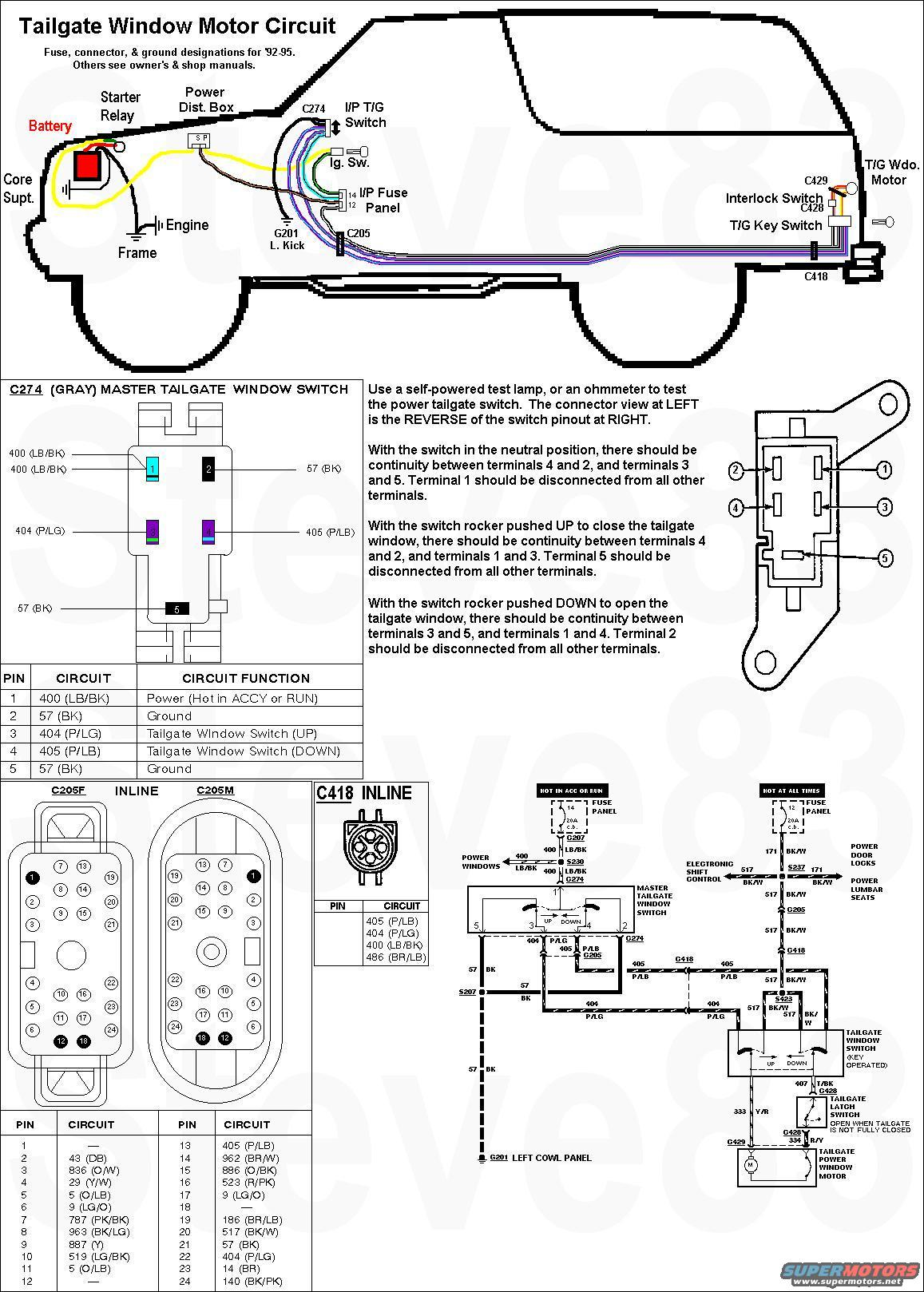 tgmotorwiring tailgate window lift key switch bypass? ford truck enthusiasts 1978 ford bronco wiring diagram at soozxer.org