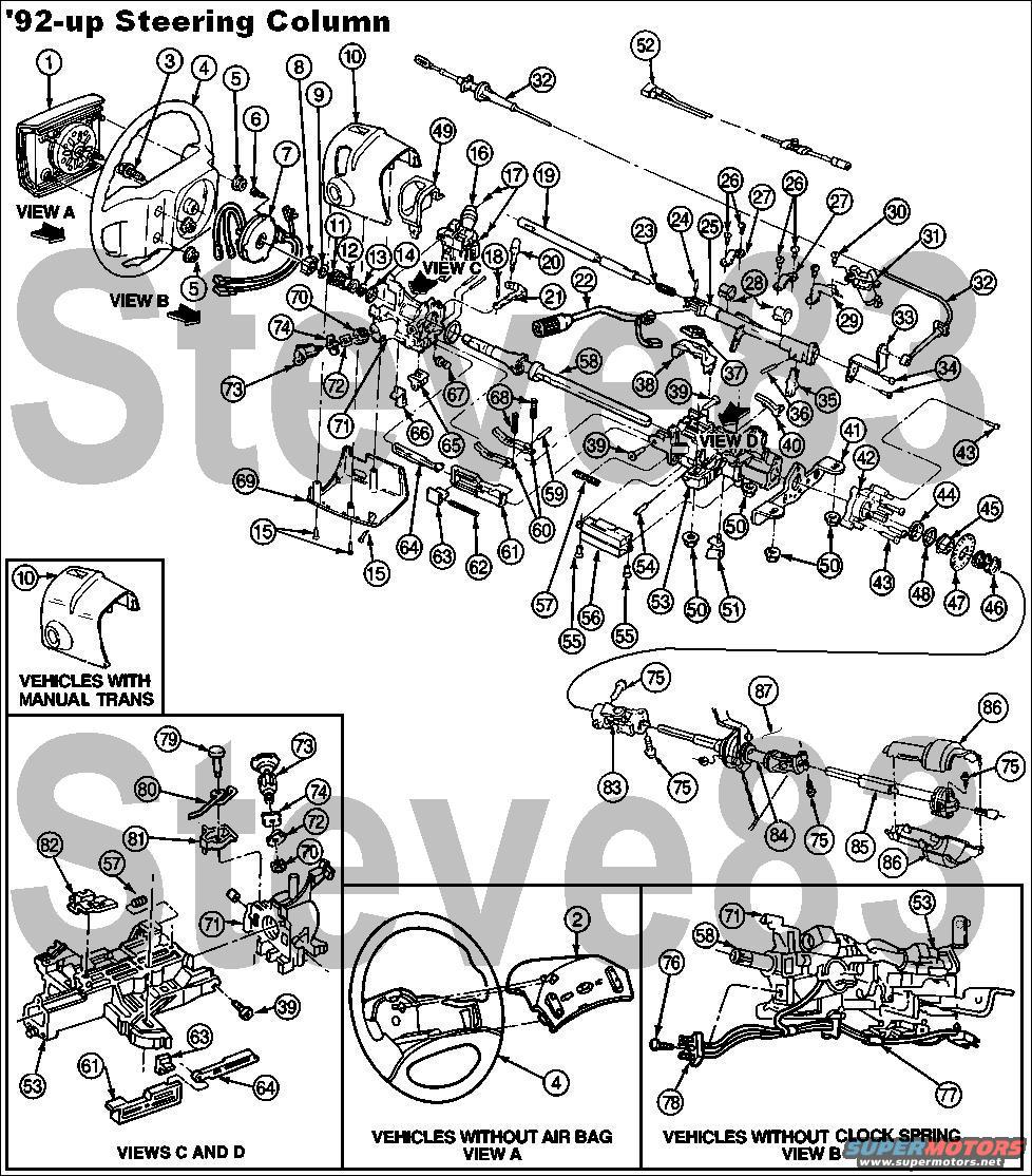 2000 Ford Windstar Steering Column Diagram Wiring Diagrams 3 8 Engine Teardown And Ignition Actuator Replacement In A 1995 Rh Fullsizebronco Com Vacuum Hose 38
