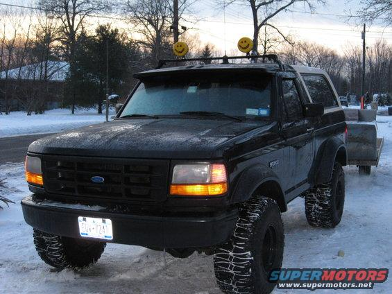 Put my light bar on pics ford bronco forum its a carr rota light bar so u can flip the lights down if need be her ya go aloadofball Images