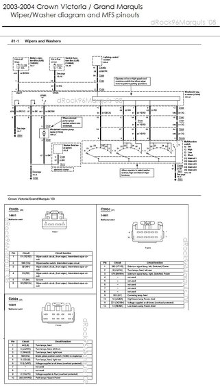 1996 Mercury Grand Marquis Panther Body  Chassis  Misc Diagrams And Pinouts Pictures  Videos  And