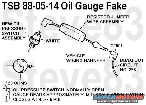 1983 ford bronco tsbs fsas recalls for 83 96 broncos f150s tsb880514oilgauge jpg ford intentionally faked out the 87 up oil gauge to