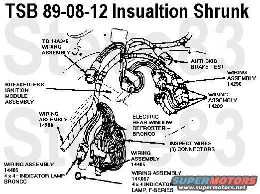 tsb890812insualtionshrunk  Mustang Engine Wiring Harness on frame clips wiring harness, 13 gm wiring harness, 4l60e transmission wiring harness, police car wiring harness, 2003 ssr wiring harness, 1995 mustang 5.0l engine wiring harness, 1989 mustang engine wiring harness, 86 monte carlo wiring harness, 1971 charger wiring harness,
