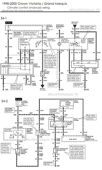1996 mercury grand marquis panther body/chassis/misc ... 1998 mercury grand marquis cooling fan wiring diagram #9