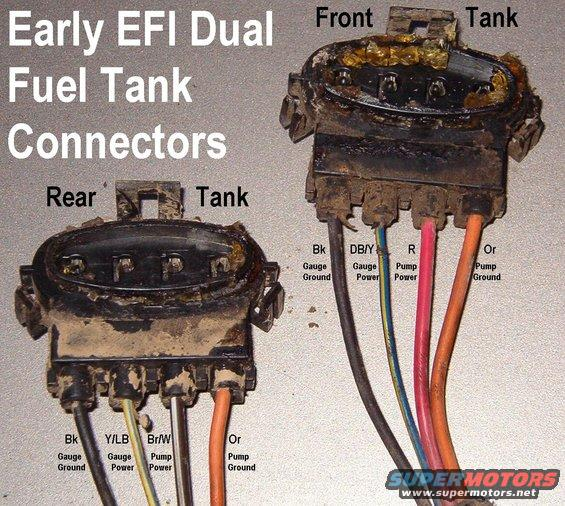 fpconnectors alt= 1983 ford bronco '90 96 fuel pump system pictures, videos, and tempo fuel gauge wiring diagram at fashall.co