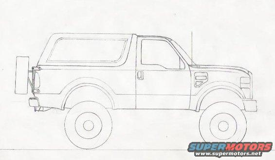 my rendering of a 2010 bronco