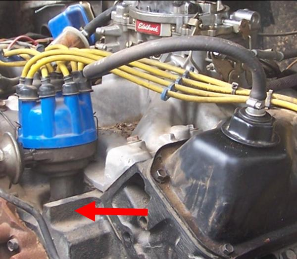 1973 Ford Bronco Engine Picture