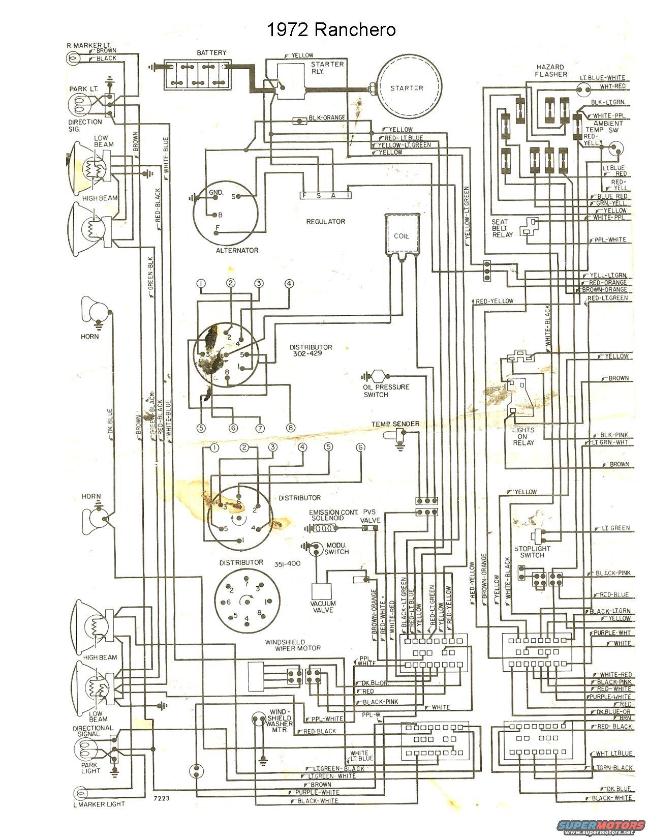 72 ranchero wiring diagram  72  get free image about