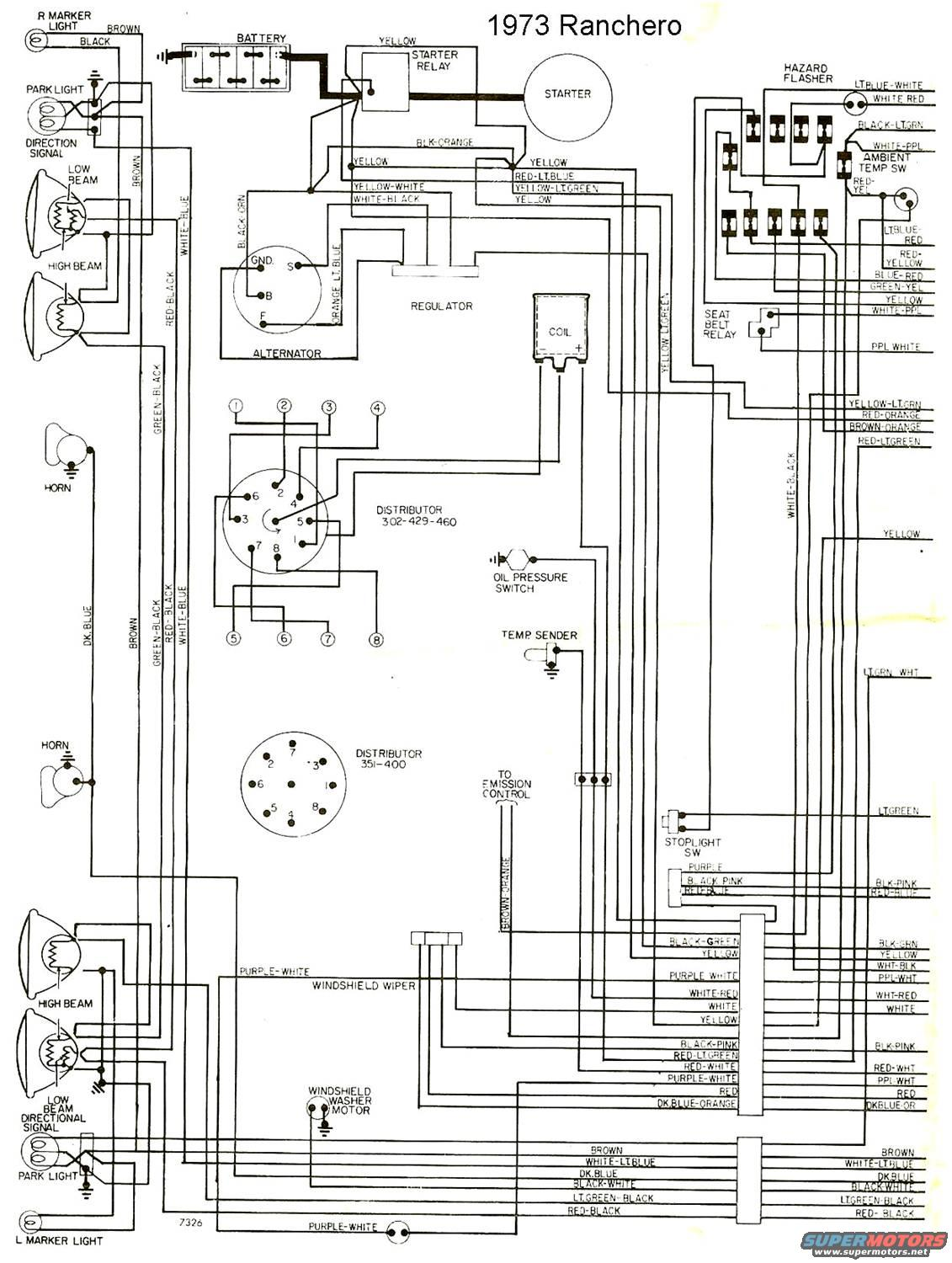 1973 ford ranchero wiring diagram