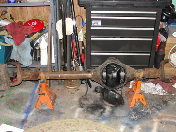 1995 Ford Bronco Spindle : Ford bronco my solid axle swap under construction
