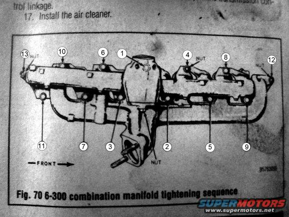 ford v10 exhaust manifold torque specs