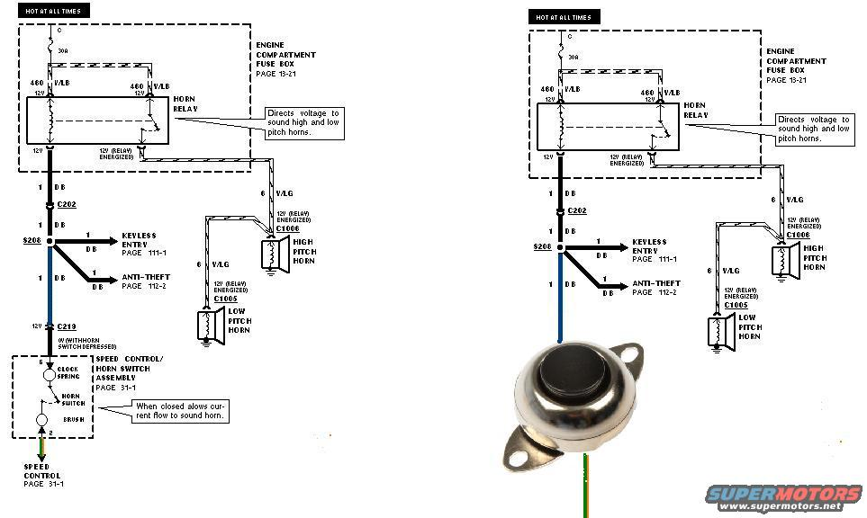 busted clockspring f150online forums Motorbike Horn Wiring-Diagram 2000 Jeep Horn Wiring