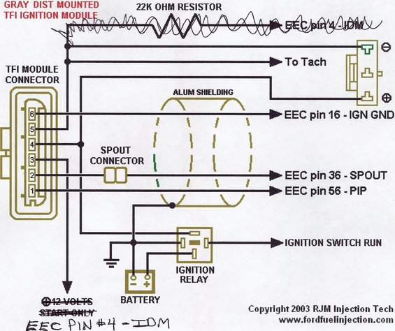 ford tfi ignition module wiring diagram on 92