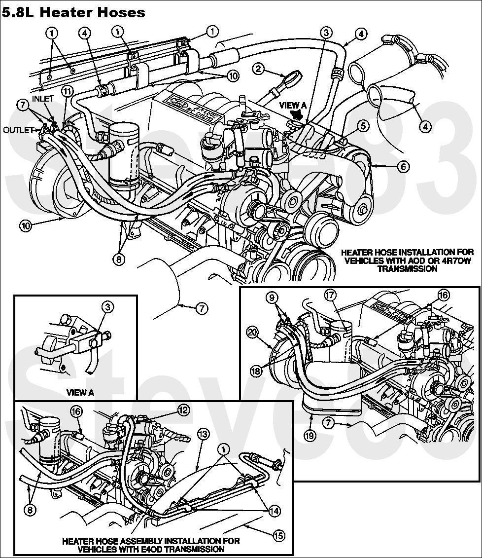5.8 heater hose routing 1990 ford bronco diagrams and schematics pictures, videos, and