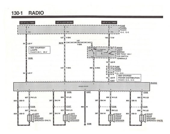 87 Bronco Radio Wiring Diagram   And Possibly Whole