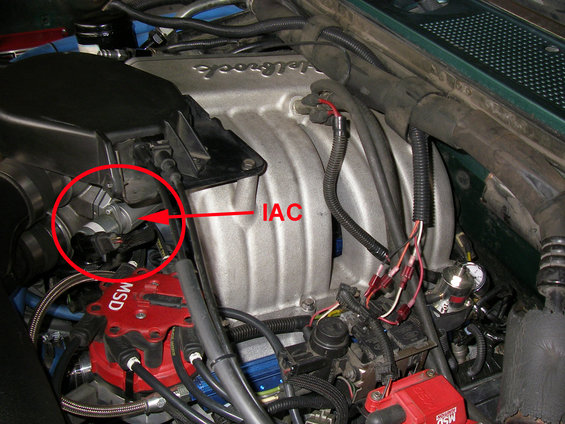 How to clean and test your iac ford bronco forum the iac is located on the side of the efi throttle body sciox Gallery