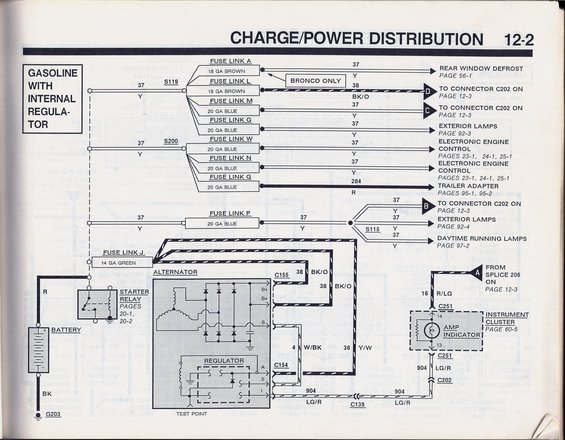 1990 bronco charge power distribution battery & ground wiring upgrade help ford bronco forum OEM Engine Wire Harness at crackthecode.co
