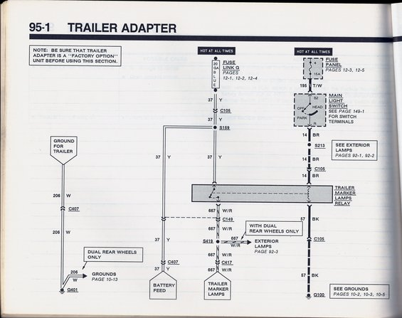 1990 bronco trailer adapter wiring trailer wiring harness? ford bronco forum Ford Truck Wiring Diagrams at soozxer.org