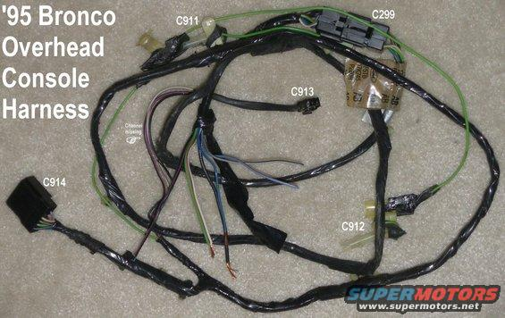 1983 ford bronco overhead console dual visors pictures and sounds supermotors net