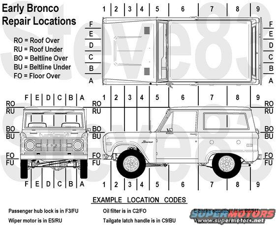 ebrepairgrid alt= 1976 ford bronco tech diagrams pictures, videos, and sounds early bronco fuse box location at bakdesigns.co
