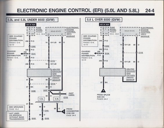 02 hego sensor wiring headache 88 bronco ford bronco forum note on the 1989 bronco 3 wire hego schematic that the 5 0l hego heater gnd bk and hego heater pwr p o do not go through the connector which in called