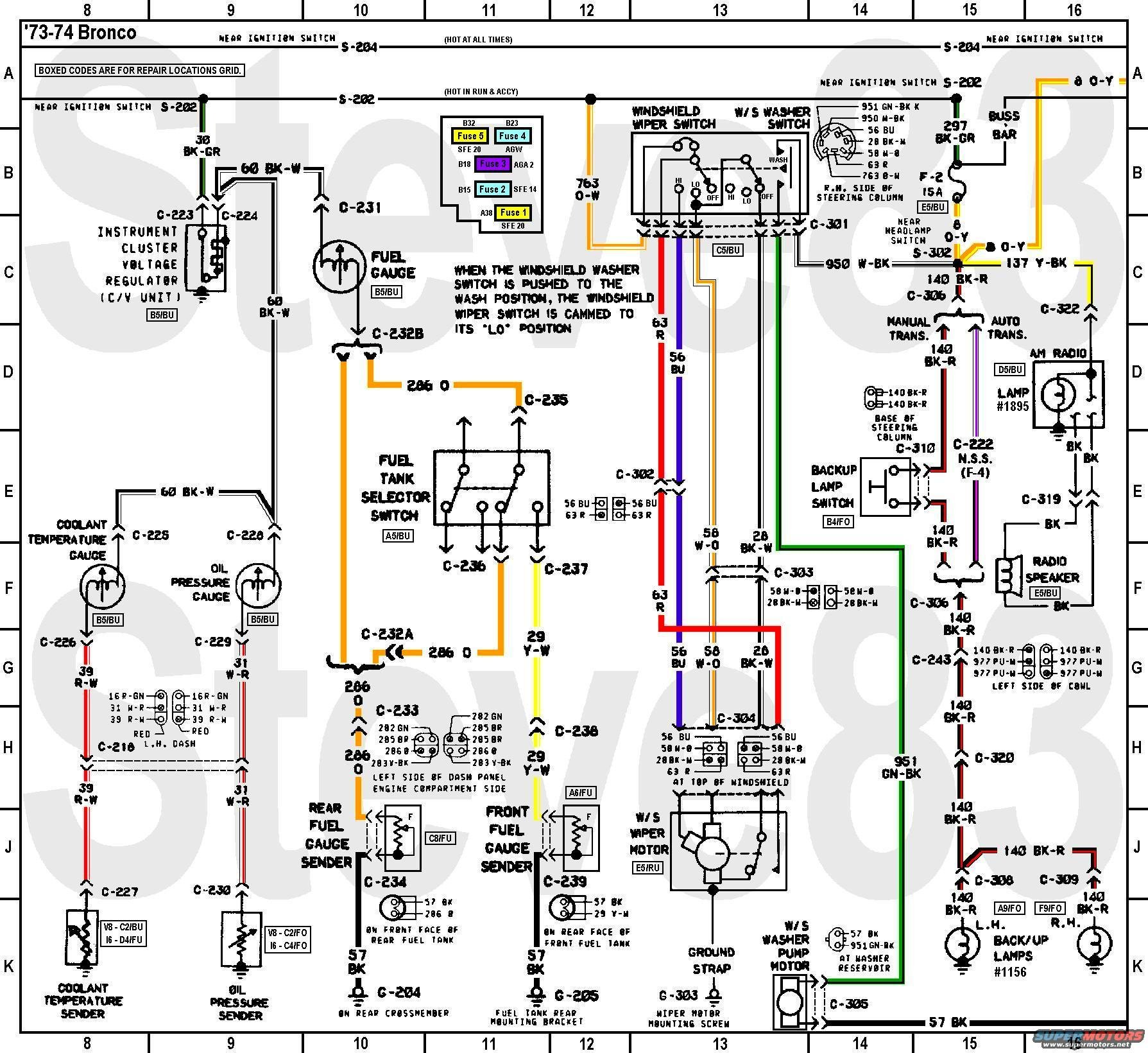 wiring7374bgawprrad 1976 ford bronco tech diagrams picture supermotors net early bronco fuse box diagram at edmiracle.co
