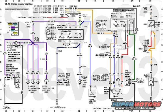 1976 ford bronco tech diagrams picture supermotors net