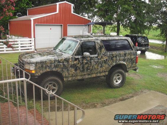 camo truck spray paint camo paint jobs ford bronco forum. Black Bedroom Furniture Sets. Home Design Ideas
