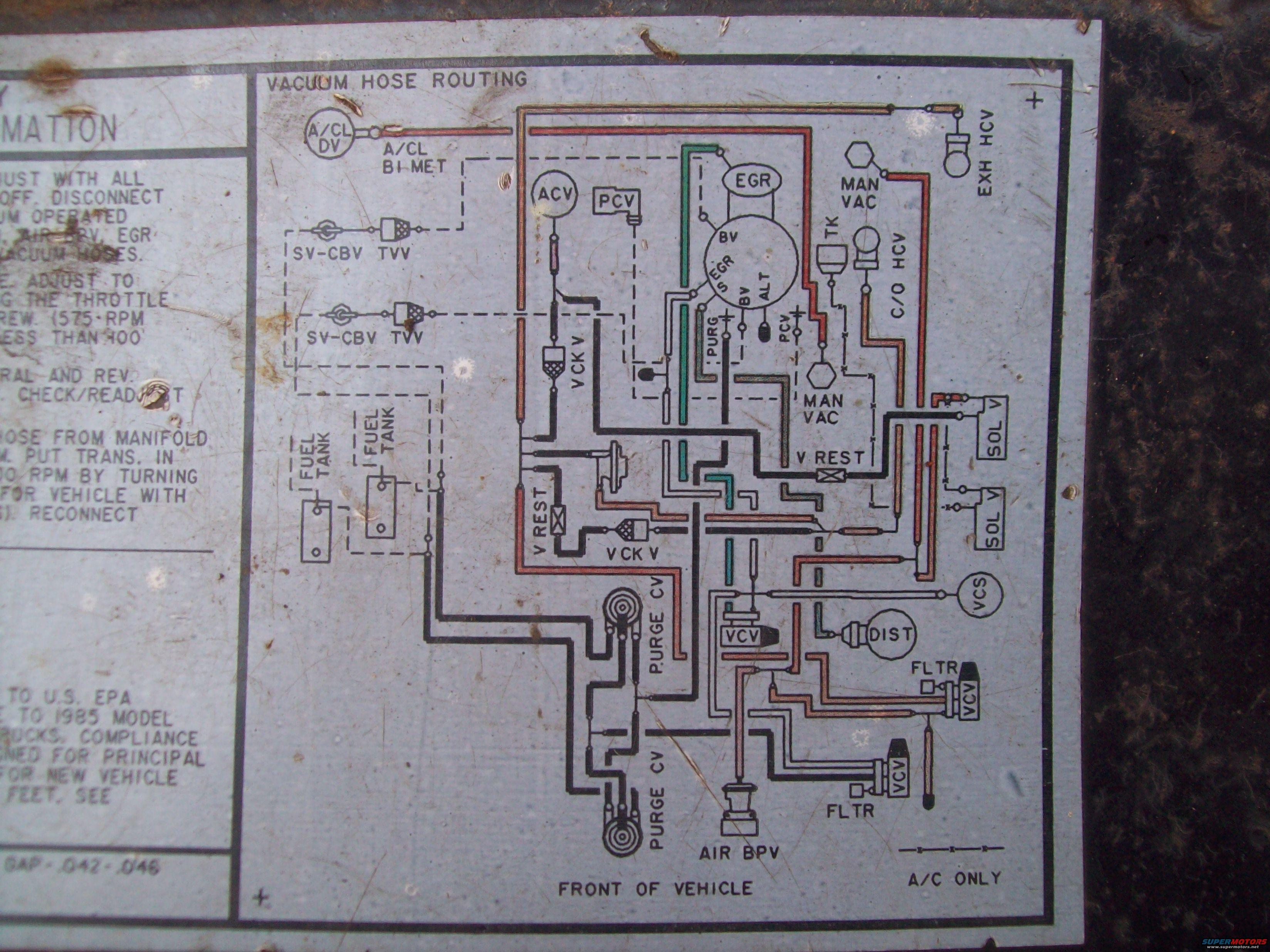 1985 351w Vacuum Diagram Ford Bronco Forum