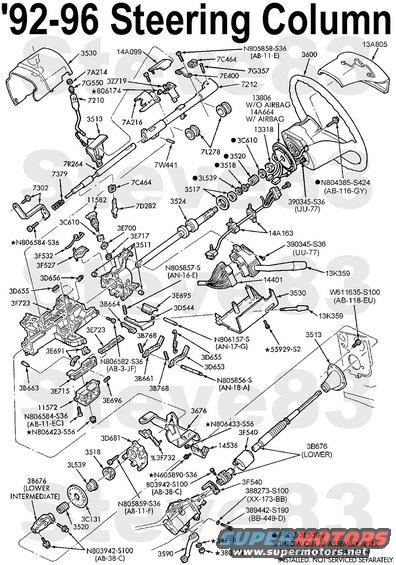 1998 F150 Steering Column Diagram on chevy steering column wiring diagram