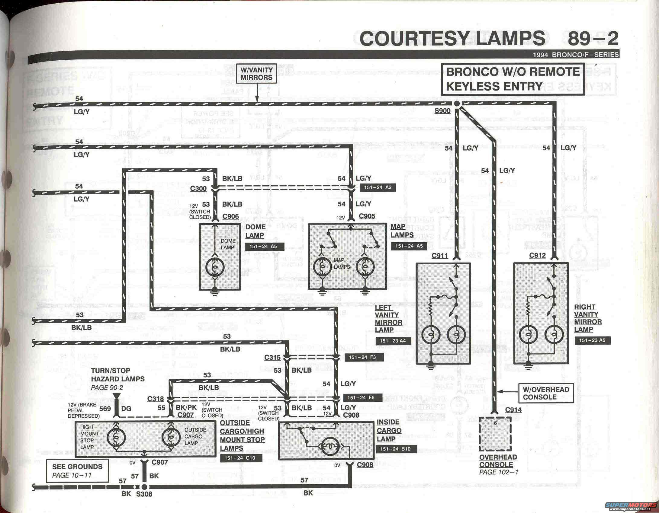 dome light wiring | Bronco Forum - Full Size Ford Bronco ForumFull Size Bronco Forum