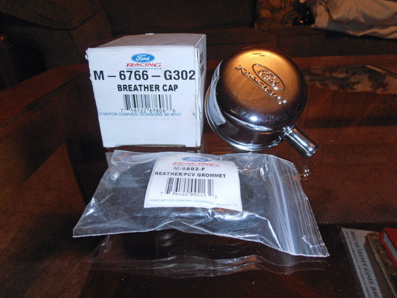 Ford Racing Oil Fill Cap And Grommet