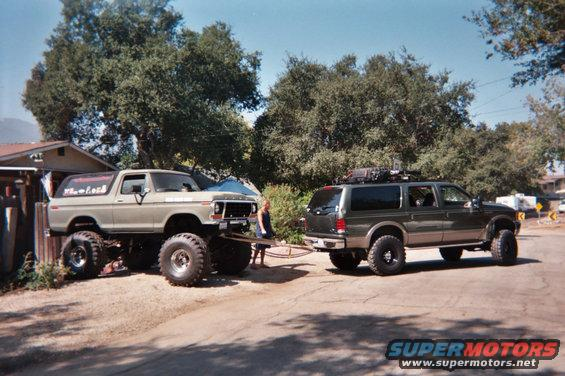 1978 ford bronco 2001 excursion towing bronco out picture. Black Bedroom Furniture Sets. Home Design Ideas