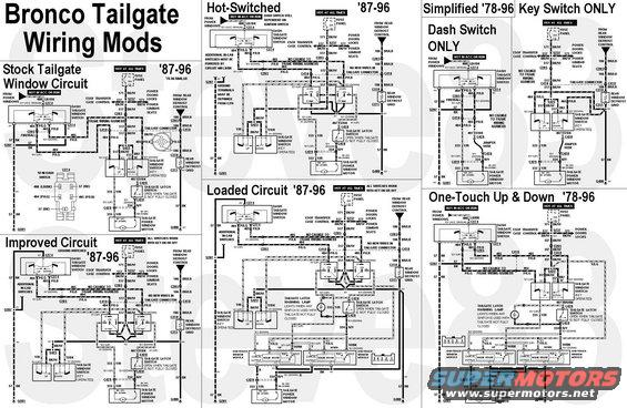 tgcircuitmods 1983 ford bronco tailgate tech picture supermotors net 1996 bronco tailgate wiring diagram at et-consult.org