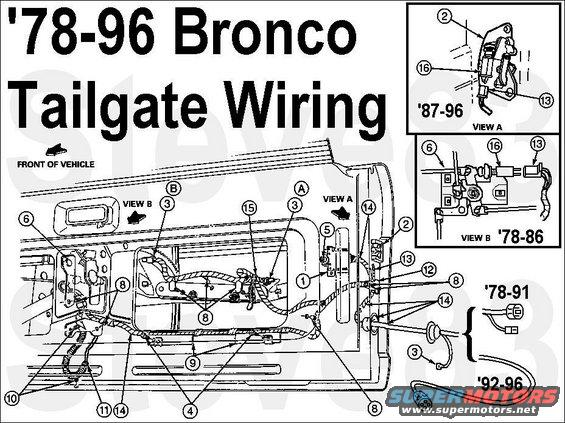 96 bronco tailgate wiring diagram   33 wiring diagram