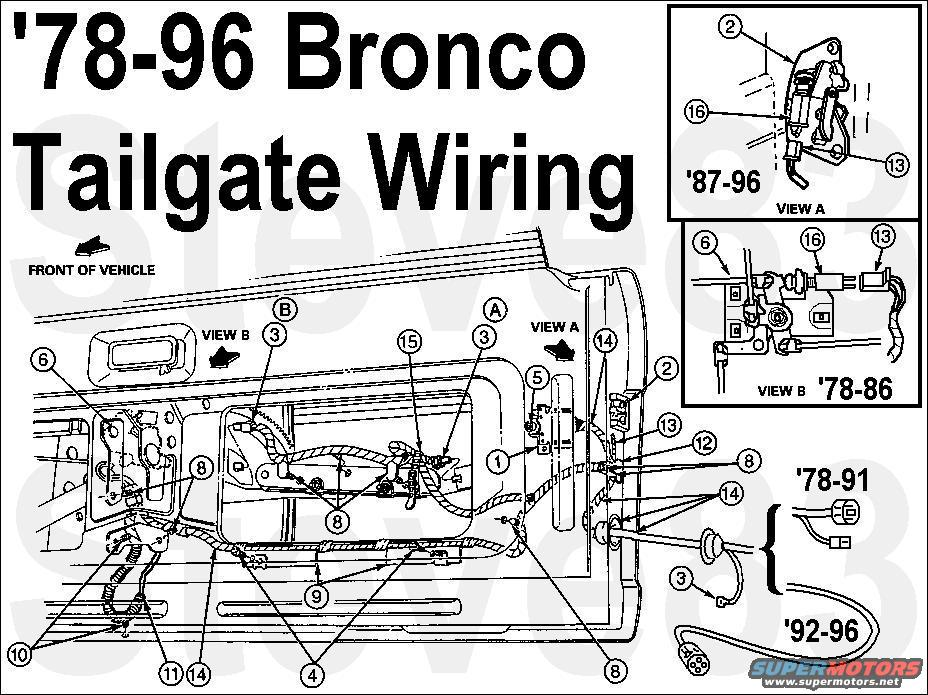 1983 ford bronco tailgate tech picture | supermotors.net 2011 ford f 150 rear window wiring diagram 1979 ford rear window wire diagram
