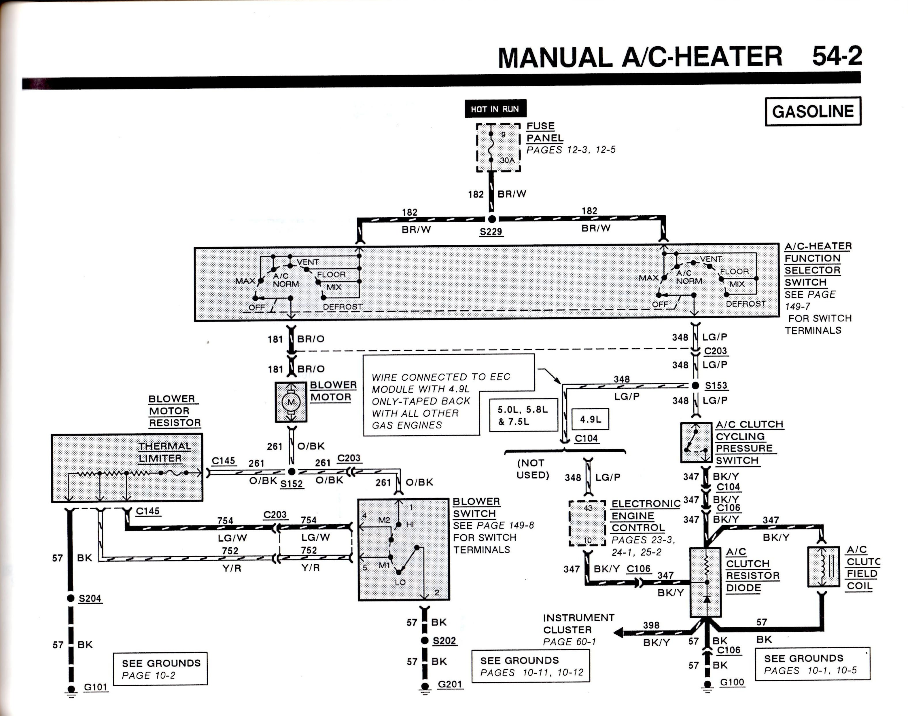 1988 ford f150 air conditioner diagram wiring diagram rh casamagdalena us  2010 F150 Turn Signal Wiring