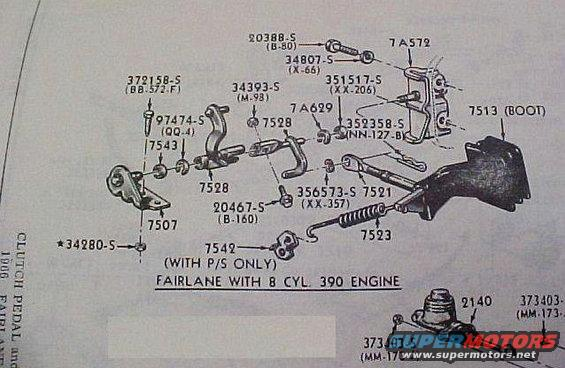 1966 Fairlane Clutch Linkage Ford Muscle Forums Ford