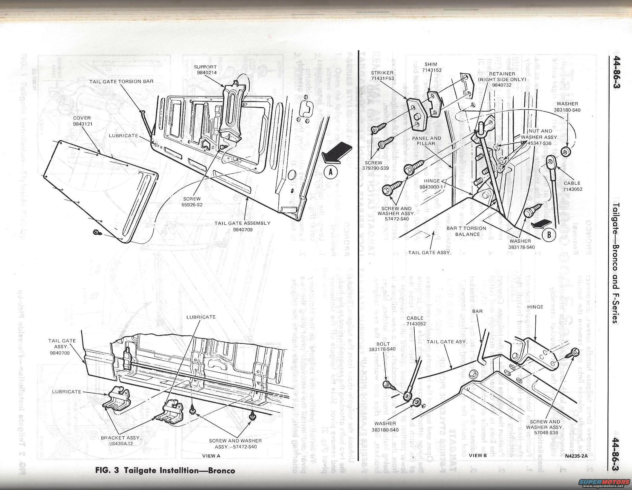 tailgate service manual pics ford bronco forum
