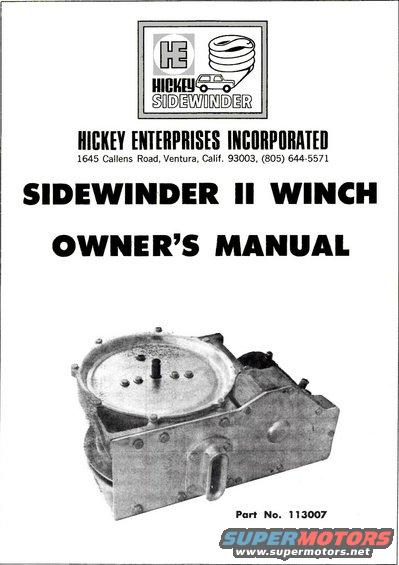 ford bronco hickey sidewinder ii pictures videos and sounds hesw p1 jpg hits 558 size 38 97 kb posted on 4 4 13 link to this image hickey sidewinder ii winch owner s manual