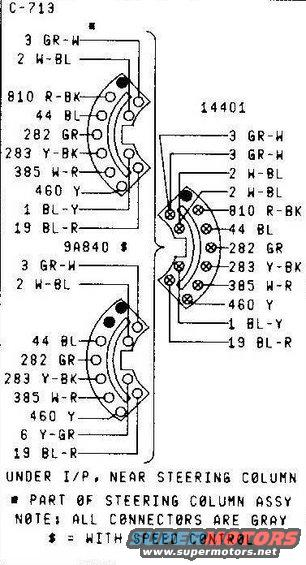 79 wiring schematics ford truck enthusiasts forums 1978 ford bronco wiring diagram turn signal switch connector c 713