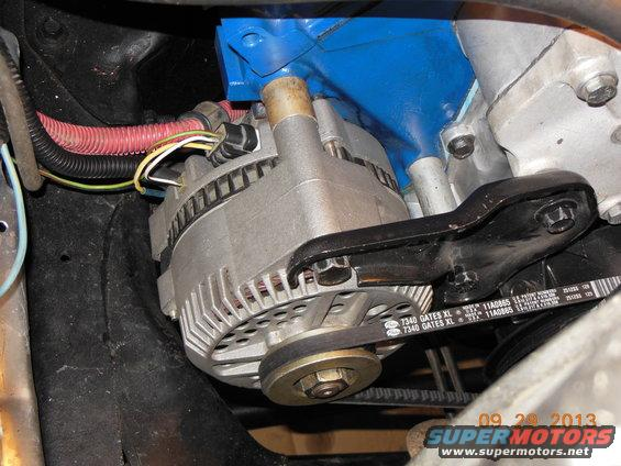 1134539 My New Motorplate Low Mount Alternator in addition V Belt Pulley Systems in addition 121920676024 further Revmax Streetrods besides Ford 351m 400 Engine. on low mount alternator bracket ford 460
