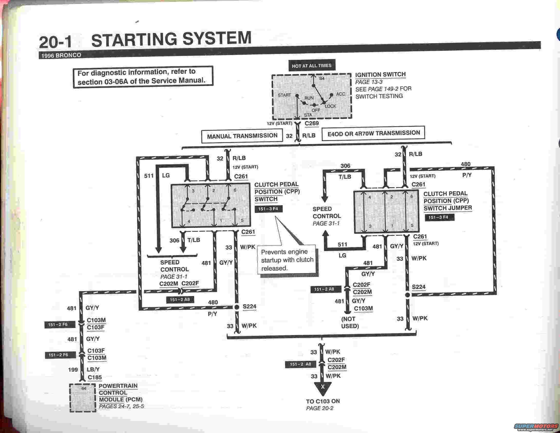 Ford Starting System Diagram